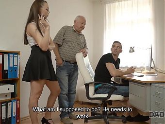 DADDY4K. Comely nymph relishes taboo sex with boyfriends old