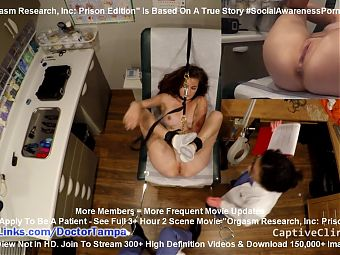 Private Prison Inmate Donna Leigh Undergoes Orgasm Research!