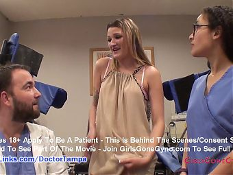 Alexandria Riley's Exam By Doctor From Tampa Caught On Hidden Cams