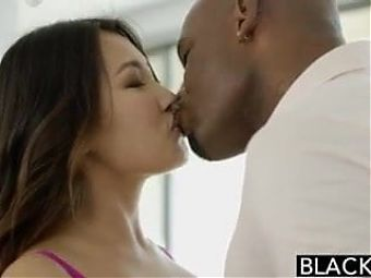 BLACKED - Jade Luv Screams on Massive Black Cock
