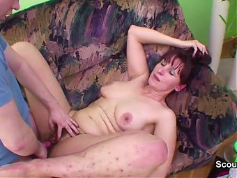 German Mom caught and fucks hardcore with boy
