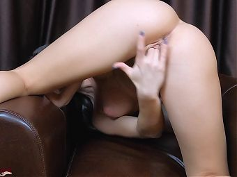 Hot Babe Is Sensually Fingering Her Pussy and Asshole - Solo Female