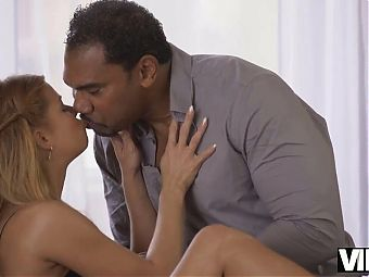 VIP4K. Black man arrives from airport to fuck his white girl