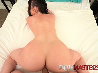 Brunette Babe Jennifer White Rides Big Cock – POV Sex